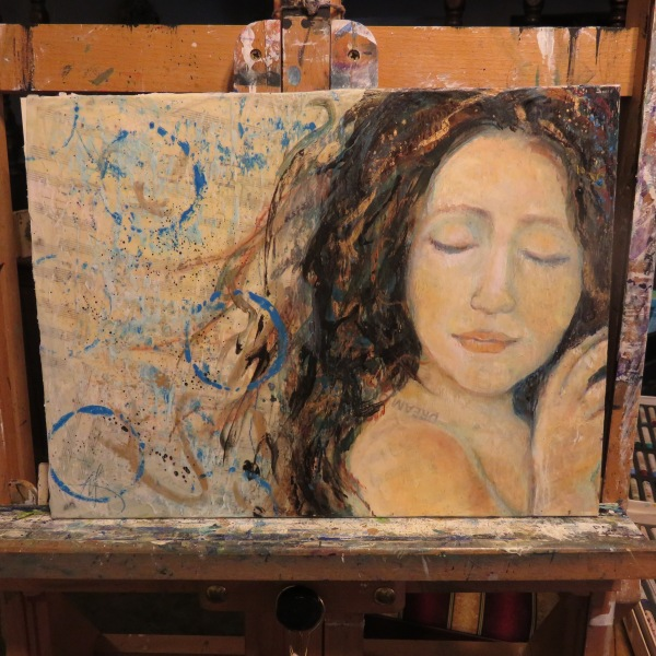 "Original ""Dreaming"" painting by Maureen Girard"